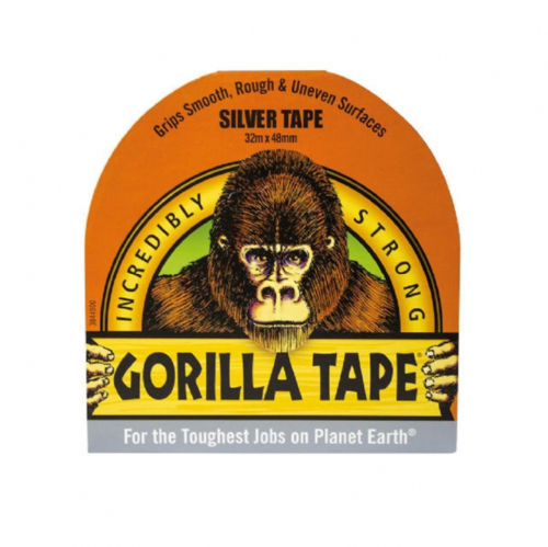 Gorilla 3044901 Tape Silver 48mm x 32m
